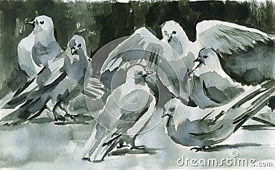 Ink doves