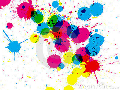 Ink drips closeup