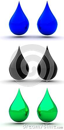 Ink droplets