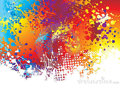 Ink splat rainbow bottom