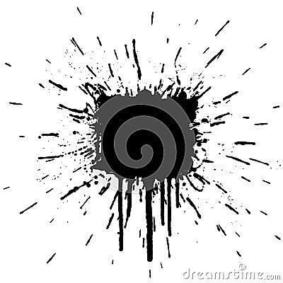 Ink splatter explosion design element