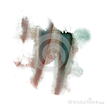 Free Ink Splatter Watercolour Dye Liquid Watercolor Macro Spot Brown Green Blotch Texture Isolated On White Background Royalty Free Stock Photography - 79726807