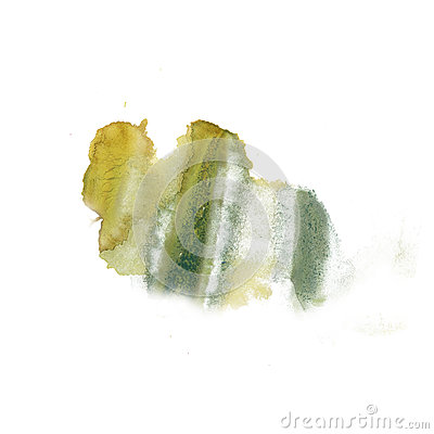 Free Ink Splatter Watercolour Green Yellow Dye Liquid Watercolor Macro Spot Blotch Texture Isolated On White Background Royalty Free Stock Photography - 79727407