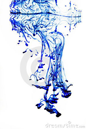 Ink In Water Blue And White Royalty Free Stock Image - Image: 22956626