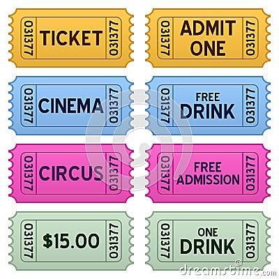 Inkasowi kolorowi bilety