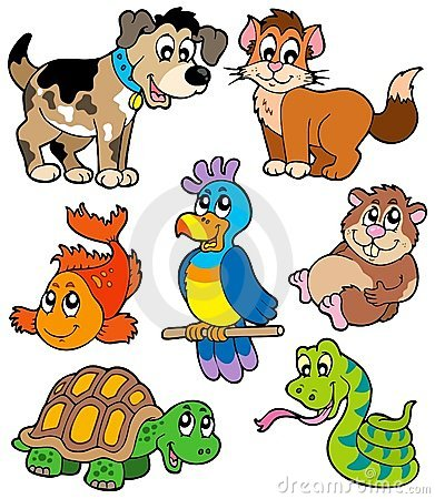 Inkasowy kreskówki zwierzę domowe