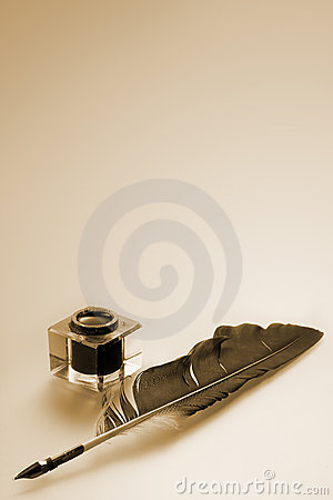 Free Inkwell And Feather Stock Photography - 2178362