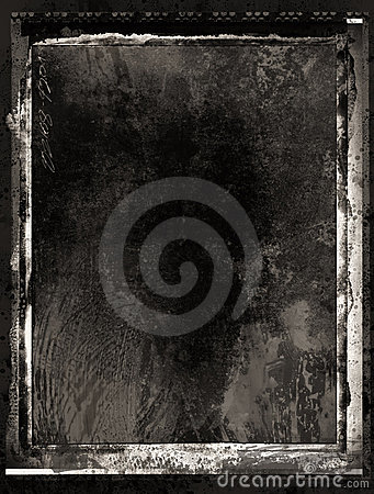 Inky grunge film frame