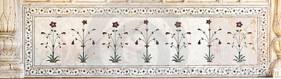 Inlaid marble, columns and arches, Red Fort, Delhi
