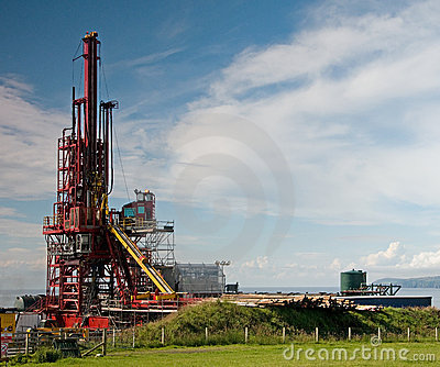Inland Oil Drill Rig
