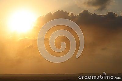 Inland sunset