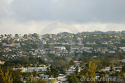 Inland view of bridgetown barbados