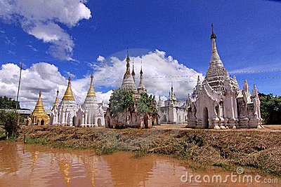 Inle Lake Myanmar - Indein Pagodas
