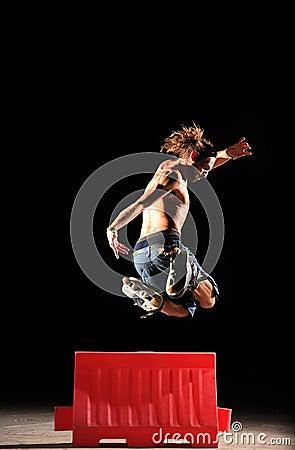 Inline Skater jumps