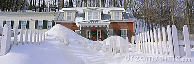 Inn at wintertime