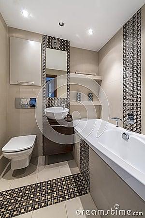 Moderne Innenarchitektur - Badezimmer Stockfoto - Bild: 27821960