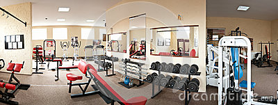 Innenraum der modernen Gymnastik
