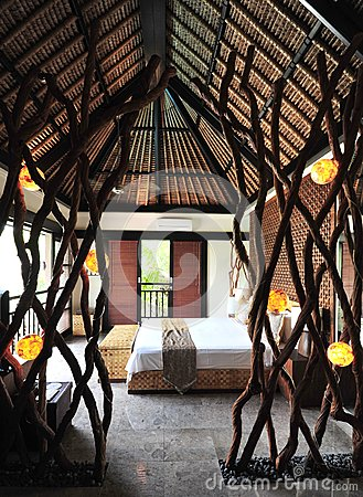 Innenraum des tropischen luxuslandhauses stockfoto bild for Innenraum design programm kostenlos