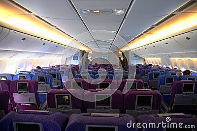 Innenraum eines flugzeuges lizenzfreie stockfotos bild for Innenraum designer programm