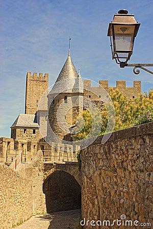 The inner city of Carcassonne, France.