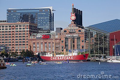 Inner Harbor - Baltimore, Maryland Editorial Photography