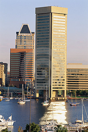 Inner Harbor & Trade Center building Editorial Photo