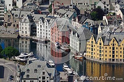 Inner Harbour of Aalesund (Norway)