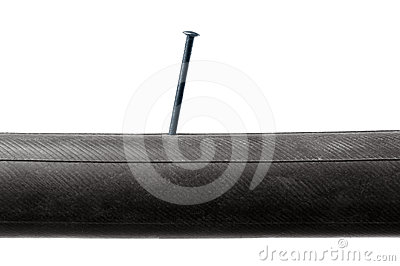 Inner Tube with nail