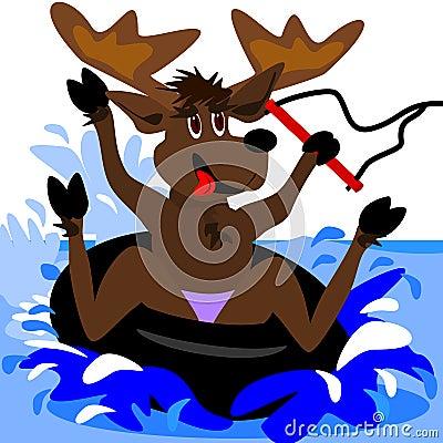 Inner tubing moose