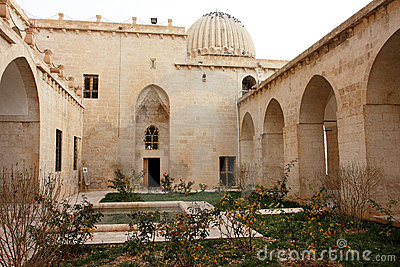 The inner yard of the old madrasah