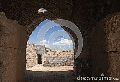 Inneres Nordgatter der Belvoir Festung