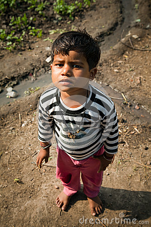 Innocent indian child Editorial Photography