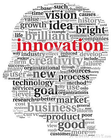 Free Innovation And Technology Concept In Tag Cloud Royalty Free Stock Photography - 29270267