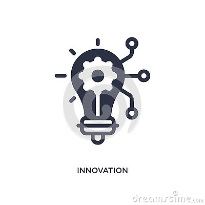 innovation icon on white background. Simple element illustration from marketing concept Vector Illustration