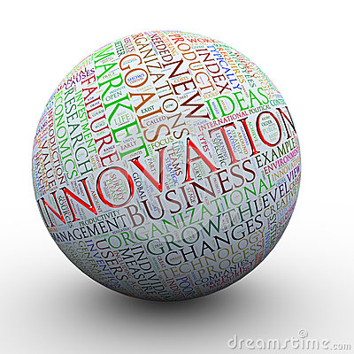 Innovation words tag ball