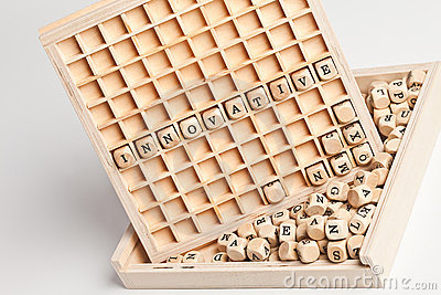 Innovative wooden letters