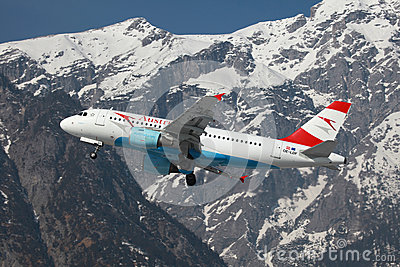 Austrian Airlines Airbus A319 Editorial Image