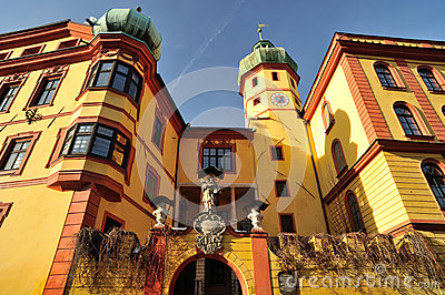 Innsbruck. Castle Buchsenhausen facade Editorial Photo
