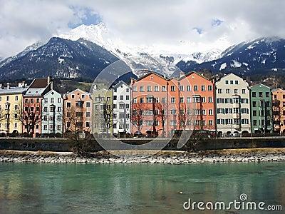 Innsbruck city near Austrian Alps
