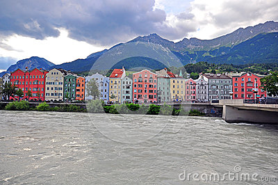 Innsbruck cityscape, Austria Editorial Stock Photo