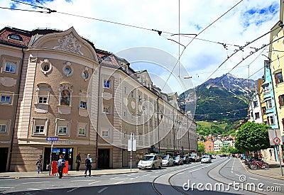 Innsbruck Street, Austria Editorial Image