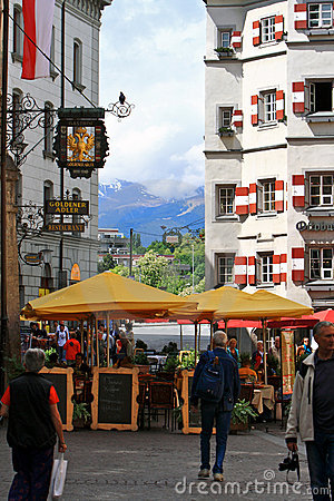 Innsbruck Street.Austria. Stock Photo - Image: 18774170