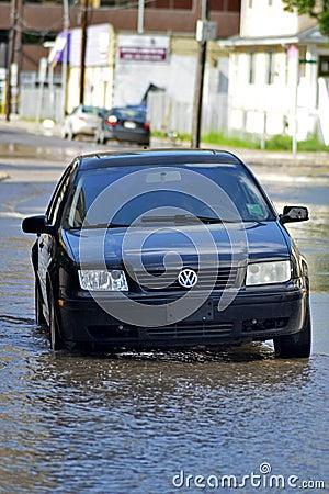 Inondation 2013 de Calgary Photo stock éditorial
