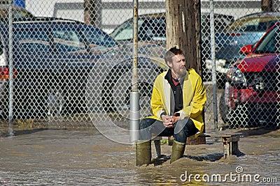 Inondation 2013 de Calgary Image éditorial