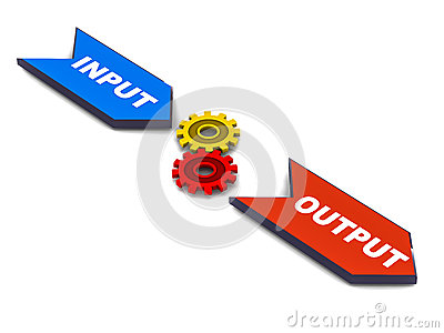 input process output royalty free stock photography