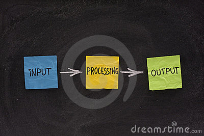 Input, processing, output - software system