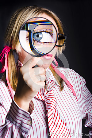 Free Inquisitive Nerd Searching For Information Royalty Free Stock Image - 29721586