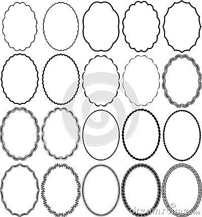 Inramniner oval