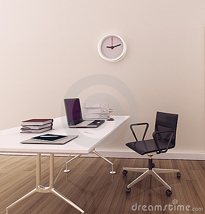 Inre minsta modernt kontor