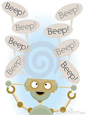 Insane cute robot saying beep